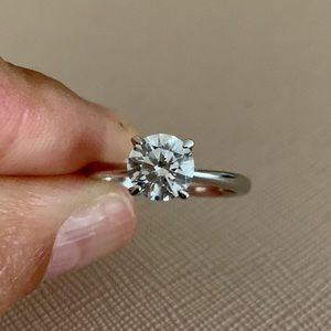 CZ By Kenneth Jay Lane Crown CZ Solitaire Ring🤩